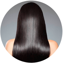 Japanese straightening touch-up